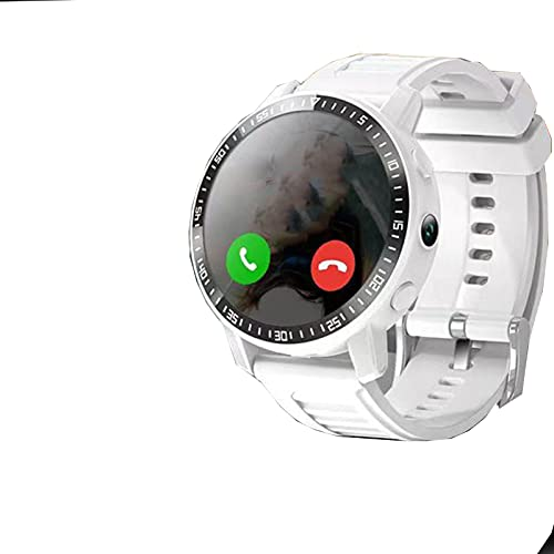 HLONGG Reloj para niños Cámara de Voz Multifuncional Posicionamiento GPS Teléfono Impermeable para el cumpleaños GRADUACIÓN Boy GIRS,Blanco