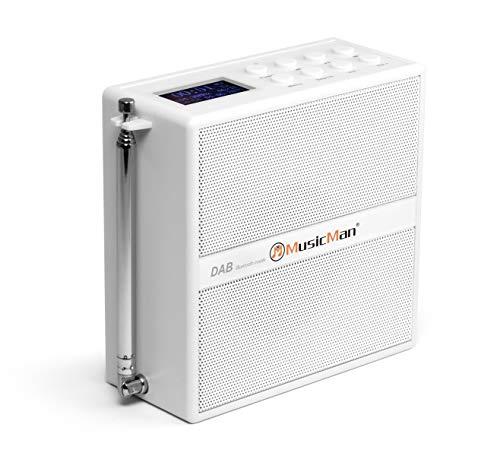 MusicMan DAB+ Socket/Steckdosen Soundstation BT-X51 - Portables Radio mit DAB+ & FM-Radio, Bluetooth und LCD-Display (DAB+/UKW, Bluetooth, MicroSD Karte), Weiss, 4849