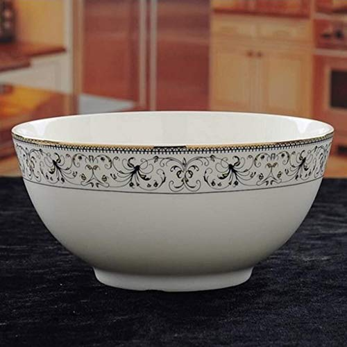 XUEXIU New Wave Soup Plate 8 Pouces Creative Service en Porcelaine Bol À Soupe Visage Bol Bassin Soupe Four À Micro-Ondes Vaisselle Perfect for Catering and Home