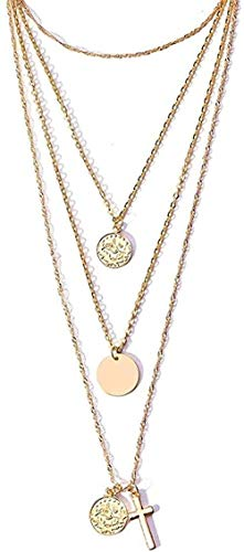 NC110 Necklace Gold Color Choker Necklace for Women Long Chain Cross Necklaces & Pendants Jewelry
