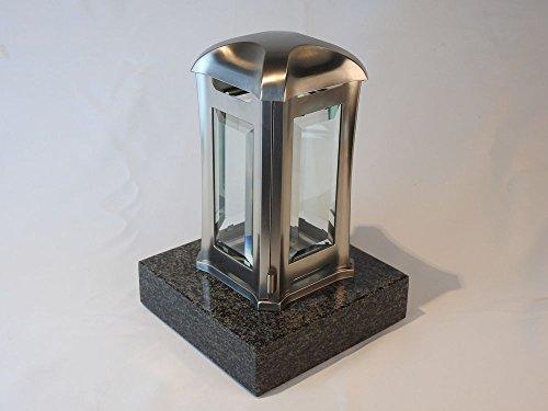 designgrab AEL5AGB1Nero Grablampe Venezia aus Edelstahl, Silber, 13 x 13 x 24 cm