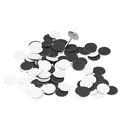 Lixa de discos de lixa, 100pcs removedor de calos Discos de lixa para remoção de rugosidade(φ15mm (100 peças))