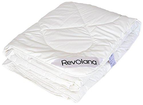 Revolana Couette 4-Saisons 140x200cm, Pure Laine Vierge 400g/m², enveloppe Percale Bio 94 Fils/cm²