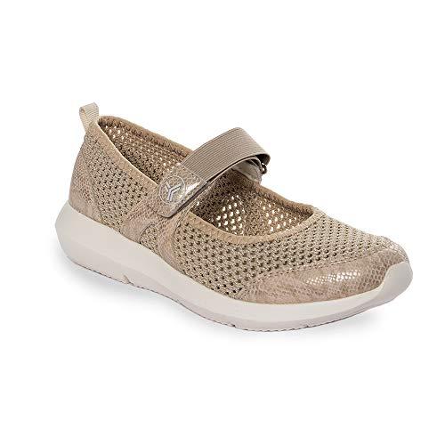 Zapatilla Sneaker Yumas Kendall BEIG Fabricado en Nylon Perforado Plantilla Confort Látex para Mujer
