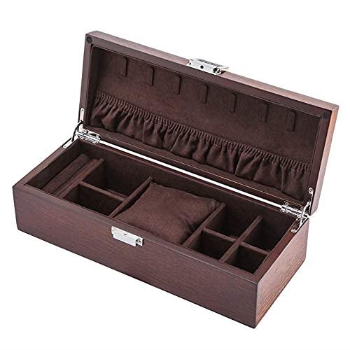 Caja de joyería de Madera con Cierre Fraxinus Mandshurica de Estilo Europeo, Caja de colección de Almacenamiento de Pulsera de joyería de Reloj Harmonious Home