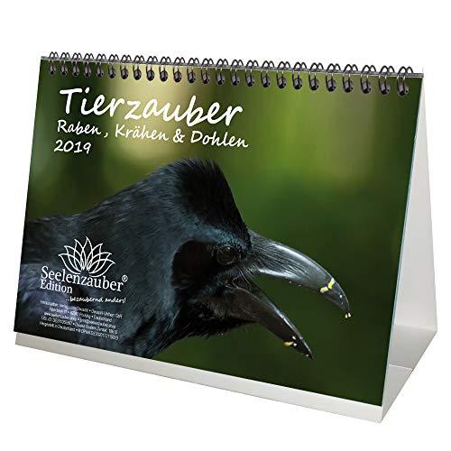 Tierzauber Raben, Krähen und Dohlen · DIN A5 · Premium Kalender/Tischkalender 2019 · Vögel · Vogel · Fliegen · Natur · Tiere · Rabe Bab Bab · Edition Seelenzauber