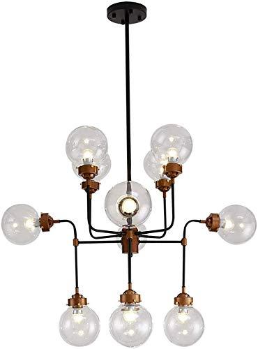 Kroonluchter Licht, 12 Lichten Zwart Kroonluchter, Vintage Plafond Licht Moderne Retro Zwart Industriële Metaal E27 Creatieve Hanglamp 8 Armen