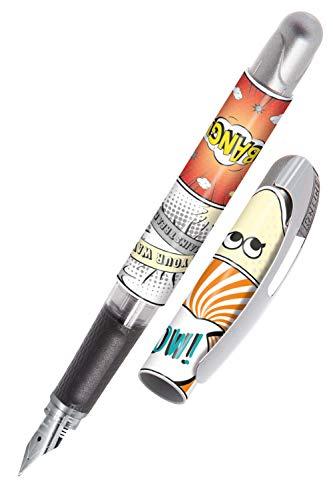 ONLINE Stylo à encre College Wow │ stylo plume ergonomique pour l'école │ plume moyenne, partie soft grip │ pour cartouches d'encre standard │ rechargeable │idéal pour enfants