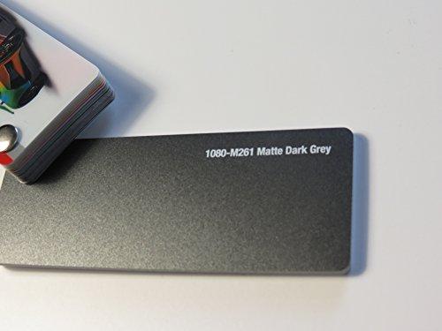 3M (29,39€/m2) Scotchprint Wrap Film Series 1080 Matt Dunkel Grau gegossene Autofolie 200 x 152 cm Zuschnitt