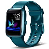 Lintelek Smart Watch, Full Touch Screen Smartwatch, 1.3 Inch Fitness Tracker with HR Monitor, Sleep Tracker, Stopwatch, IP68 Waterproof Fitness Watch Works with iOS, Android for Men, Women (Green)