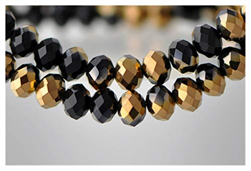 TWWSA Cuentas espaciadoras 4 * 3 mm Perlas de Cristal facetadas Mezcla Color de joyería hallazgos Espaciador Lariat Pendientes Pulsera Collar Accesorios Hecho a Mano (Color : Colorful)