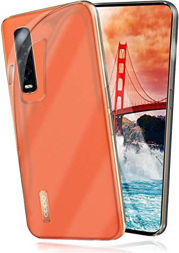 moex Aero Hülle kompatibel mit Oppo Find X2 Pro - Hülle aus Silikon, komplett transparent, Klarsicht Handy Schutzhülle Ultra dünn, Handyhülle durchsichtig einfarbig, Klar