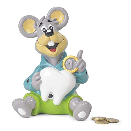 Hucha infantil ratoncito Pérez - hucha niña y niño ,material de poliresina,17centimetros . hucha billetes y monedas