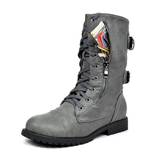 3072308b796 DREAM PAIRS Women s Winter Faux Fur Lining Combat Boot