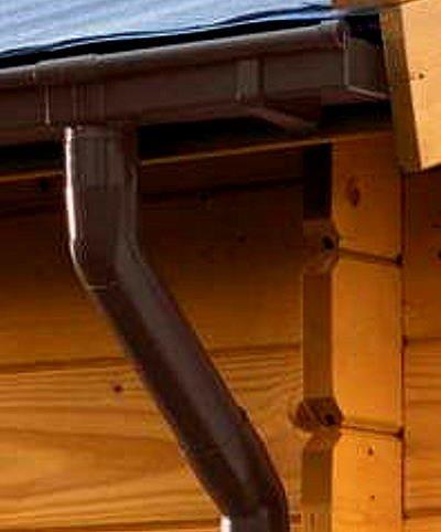 Dachrinne KASTENFORM Rinnensatz Regenrinne 2x400cm Komplett-Set mit wählbarer Farbe (Braun)