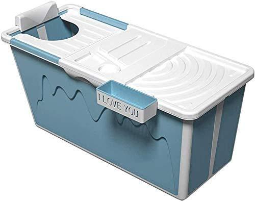 UN pieghevole portatile vasca da bagno vasca da bagno per adulti con doccia adulto adulto grande vasca di plastica-standing, blu,Blue