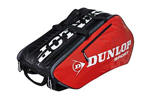 Dunlop Schlägertaschen Tour 10 Racket Bag Tennistasche, Rot, 75 x 34 x 42 cm, 1 Liter