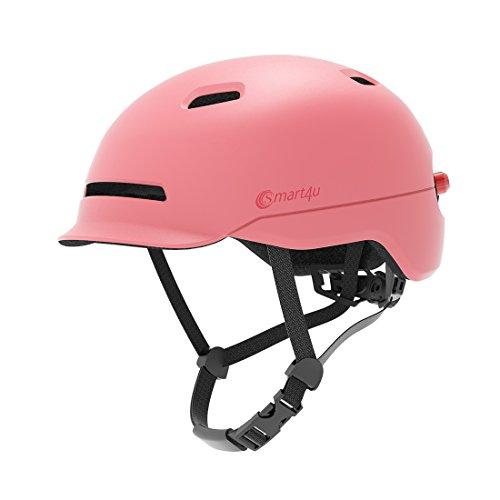 Livall equitazione SMART4U Smart Bike casco con 3tipi di luci di allarme, Smart & Safe Bling casco, comodo, leggero, traspirante e impermeabile da ciclismo , Nero , L