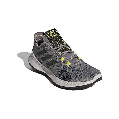 Adidas SenseBOUNCE + Ace J, Zapatillas Running Unisex Infantil, Negro (Dove Grey/Core Black/Shock Yellow), 36 2/3 EU
