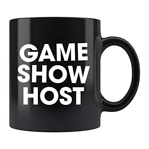 Taza de presentador de programa de juegos, regalo de programa de juegos, taza de programa de juegos, regalo de amante de programa de juegos, disfraz de presentador de programa de juegos, taza con zumb