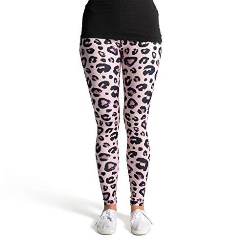 cosey Damen Animalprint Leopardenmuster Leggings, D2, Einheitsgröße
