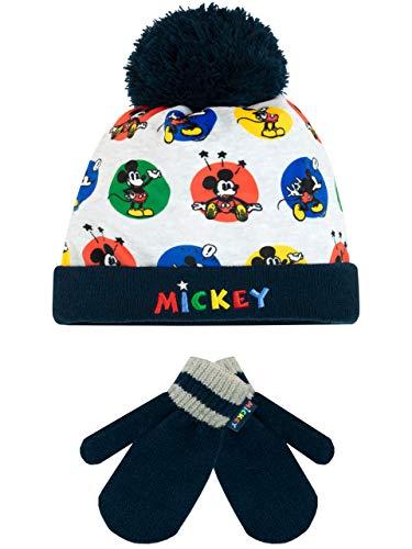 Disney Jungen Mickey Mouse Mütze & Handschuh Einheitsgröße