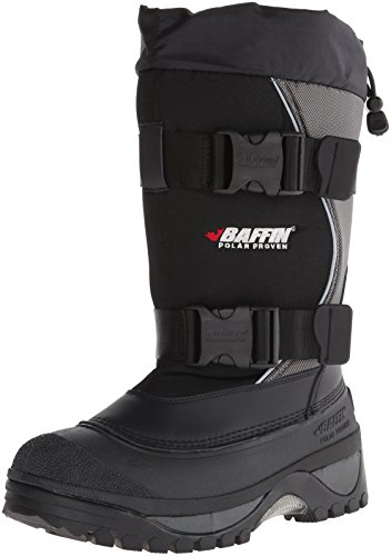 Baffin Men's Wolf Snow Boots, Black/Pewter, 7 M US