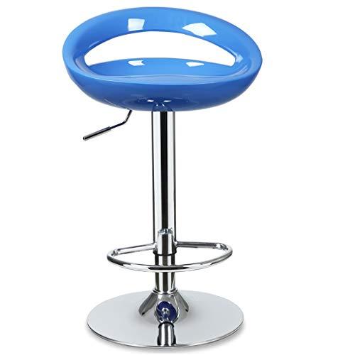 Gratuit Chaise de bar Café Chaise lève-fauteuil Famille Tabouret de bar Tabouret haut Tabouret de bar Bleu Multicolore Respirant (Color : Blue)