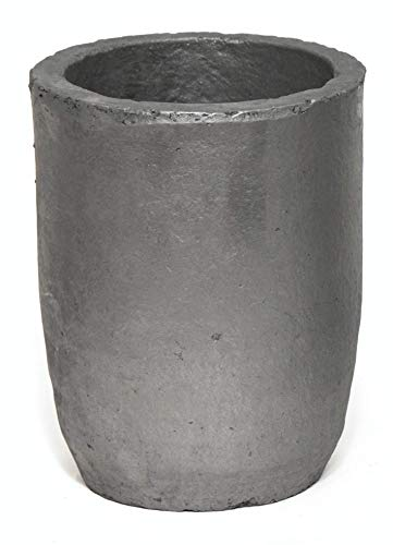 Cast Masters USA - 10 Kg Foundry Clay Graphite Crucible Furnace Torch Melting Casting Refining Gold Silver Copper Brass Aluminum
