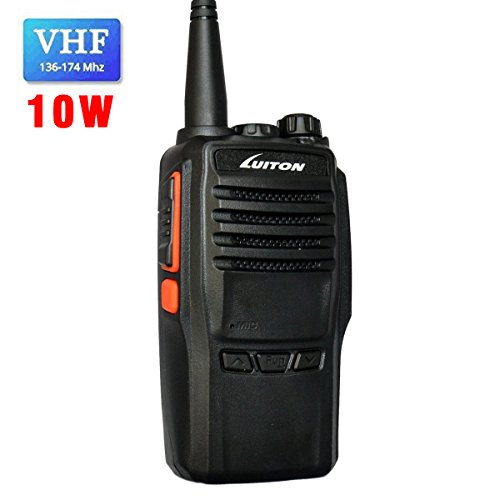 LUITON LT-188H VHF Walkie Talkie 10W for Hiking, Camping with Program Software & Cable - 1 Pack -...