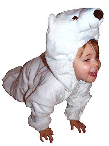 Seruna Eisbären-Kostüm, F24 Gr. 98-104, für Kind-er, EIS-Bären Kostüme, Fasching Karneval, Kleinkinder-Karnevalskostüme, Kinder-Faschingskostüme, Geburtstags-Geschenk Weihnachts-Geschenk