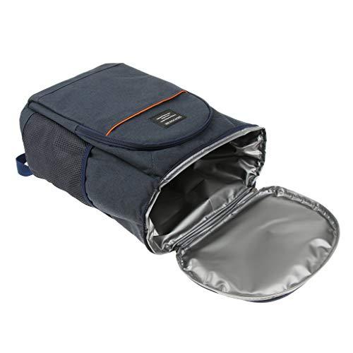 perfk wasserdichte Rucksack Kühltasche/Picknick Kühlbag/isoliert Picknicktasche mit 18L Kapazität - Dunkelblau