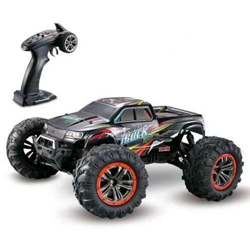 s-idee® 9125 + 2 Akkus RC Auto 1:10 4WD Buggy wasserdichter Monstertruck mit 2,4 GHz ca. 50 kmh schnell, Zwei Motoren, wendig, voll proportional 4WD ferngesteuertes Buggy Racing Auto