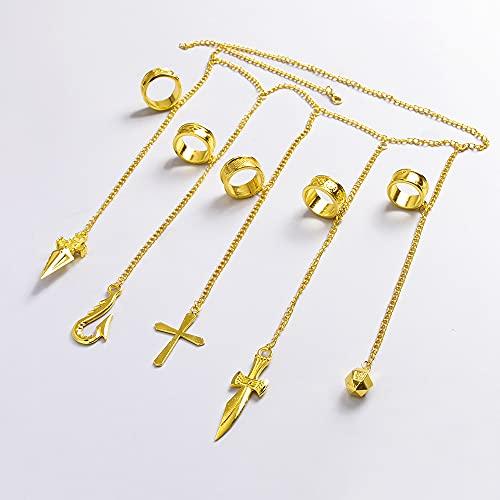 XKMY Cadena de mano con anillo de guantelete pulseras pulsera de piedra gema para mujeres y niñas joyería regalo cadena de dedo (color metal: oro)