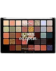 NYX Professional Makeup Ultimate Shadow Palette Utopia paleta 40 cieni o różnym wykończeniu, kolory chłodne i ciepłe, uniwersalny zestaw barw