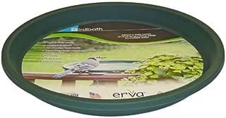 Erva D14GR 14 in. dia. Bird Bath Plastic Dish; Green