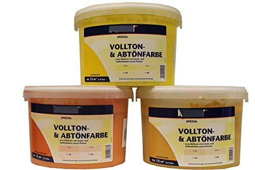 Faust Spezial Vollton- & Abtönfarbe seidenmatt innen und außen 2,5 l Farbwahl, Farbe:Gelb