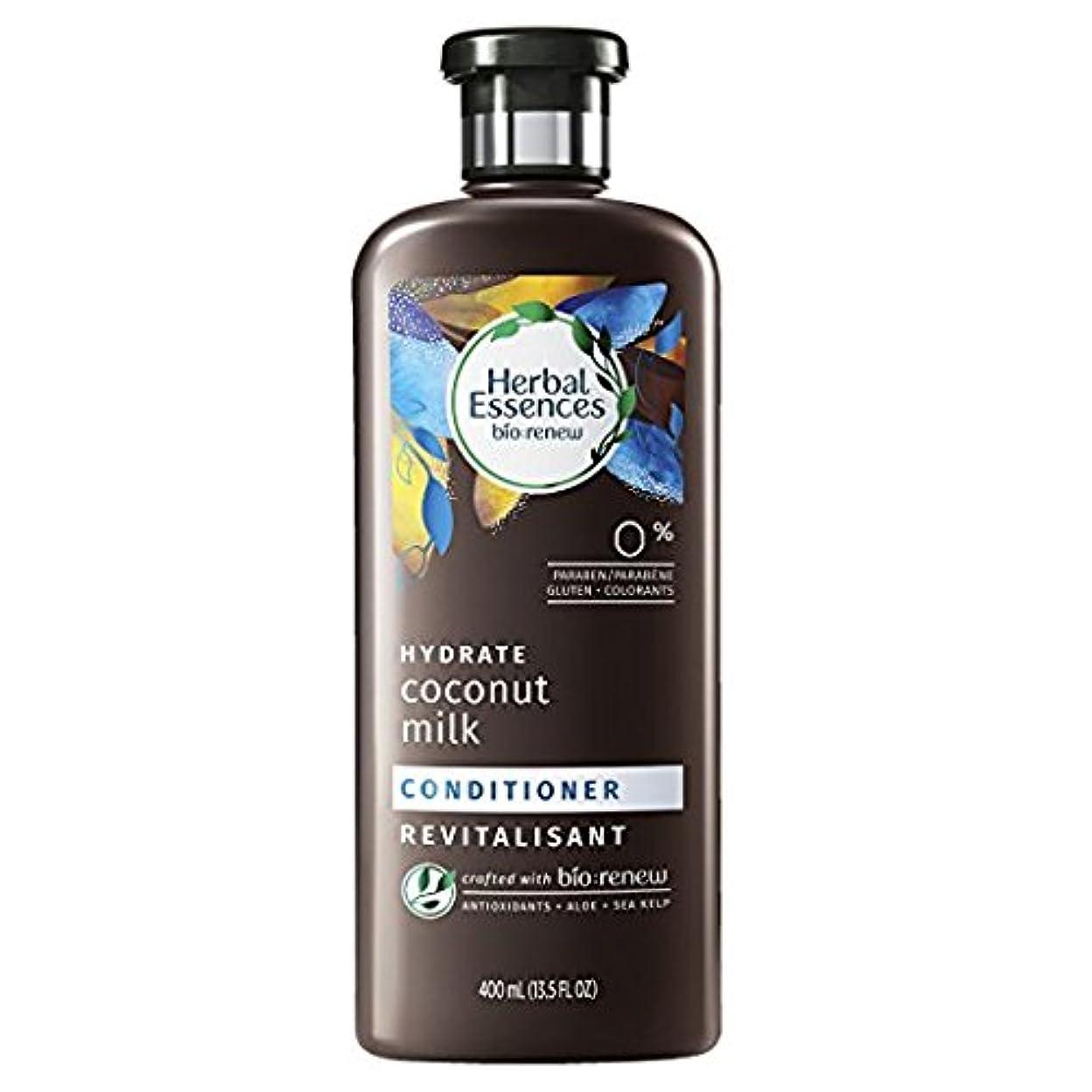 Herbal Essences Biorenew水和物ココナッツミルクコンディショナー、13.5液量オンス(2パック)