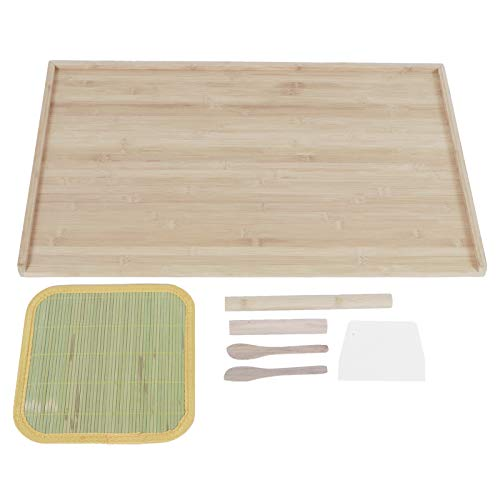 Tabla de masa para amasar, bloque de cortar exquisito duradero de textura de bambú, para restaurante de cocina casera