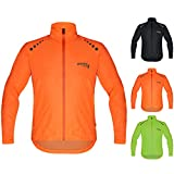 Brisk Bike Ultra-Light All Weather Rain Jacket for Cycling Orange (L)