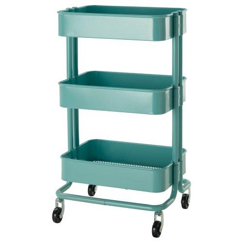 IKEA(イケア) R?SKOG 10216537 キッチンワゴン, ターコイズ