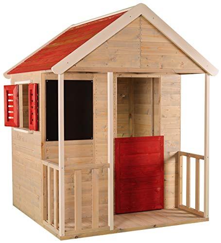 Casetta per bambini in legno / set da gioco casa per attività all'aperto / colore rosso 3-7 anni / giocattoli per bambini