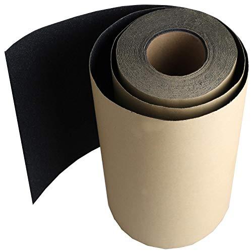 11 Inch by 60 feet Black Roll of Skateboard Grip Tape Sheet, ZUEXT Bubble Free Waterproof Scooter Grip Tape, Longboard Griptape, Sandpaper for Rollerboard Stairs Gun Pedal Wheelchair Steps (27x1828cm)