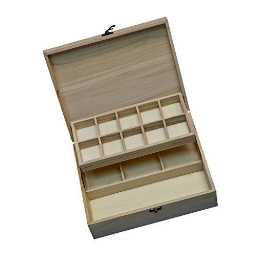 perfeclan Caja de Almacenamiento de 1 Pieza Caja de Cofre del Tesoro para Pintura Técnica de Procesamiento de Dibujos, Gran Capacidad