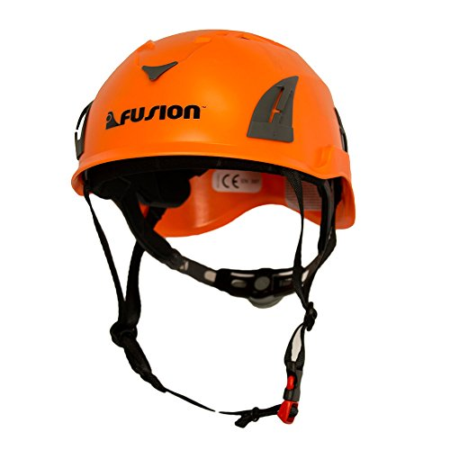 Fusion Climb Meka II Climbing Bungee Zipline Mountain Construction Safety Protection Helmet Orange