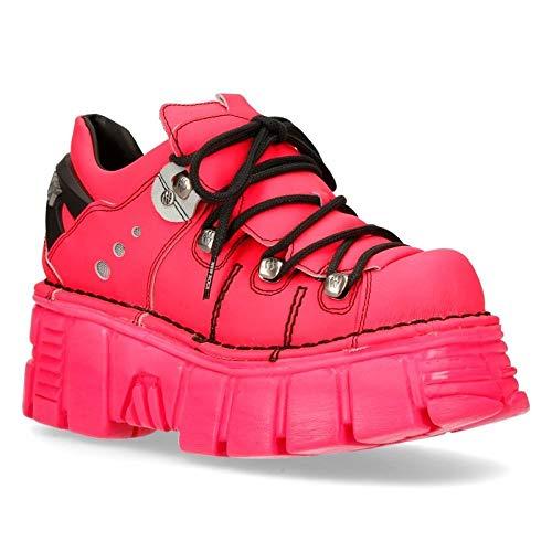 New Rock Schuhe Shoes Boots Designer PINK MONOCHROM Platform M-120NSH-C1 (37 EU, Pink)