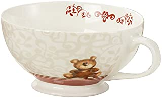 bianco Brandani 53251/peonia New Bone China Tea Cup 2/pezzi Set