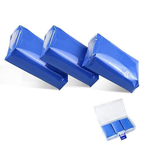 Fixget Car Clay Bar, 100 g Professionnel Voiture Nettoyage Pâte Magic Clay Bar pour Véhicule Voiture Supprimer Sludge Chiffon de Nettoyage avec Boîte de Rangement (3 pcs)