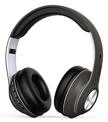 Auriculares Diadema, Cascos Bluetooth Inalambricos Plegable con Micrófono, Auriculare Cerrados Over-Ear, Hi-Fi...