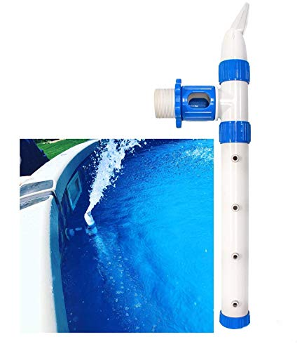 Swimming pool water fountain + up to 10x circulation for easy cleaning+ aeration naturally raises ph without chemicals